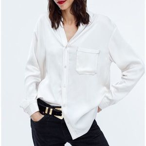 Zara The Ely Shirt with Contrast Topstitching